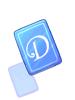 Blue D Card