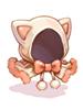 Costume White Cat Hood [0]